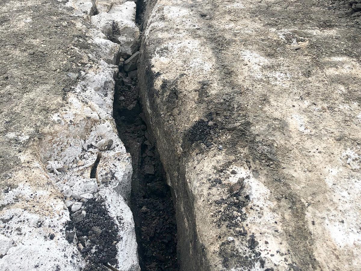 Lagning av motorväg Foam King