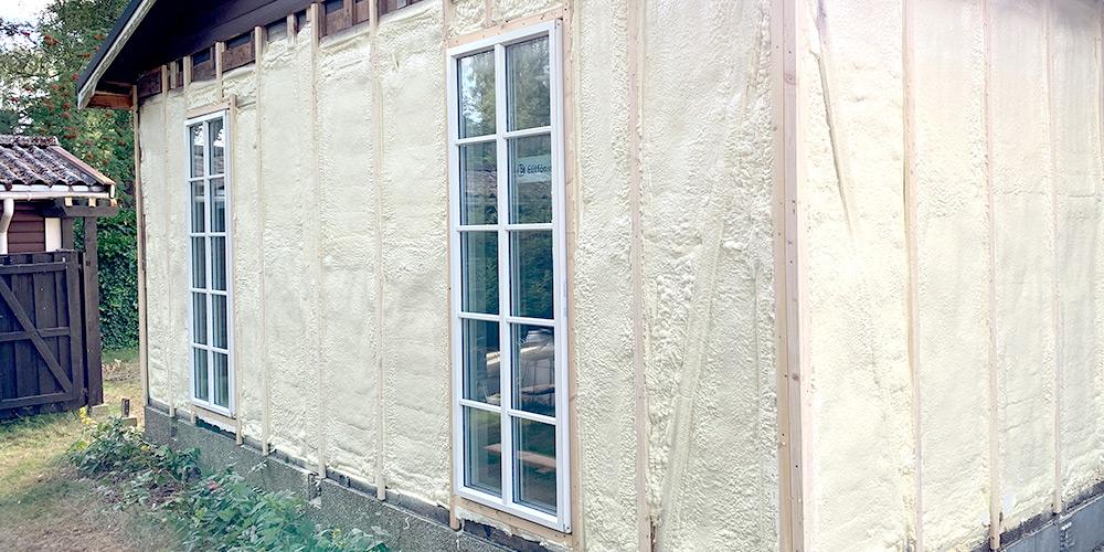 Isolering av vägg från utsidan